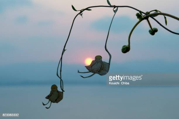 two people ride the chairlift - kouichi chiba stock photos and pictures