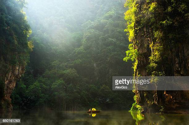 two people sailing on lake, ipoh, perak, malaysia - malaysia beautiful girl stock photos and pictures