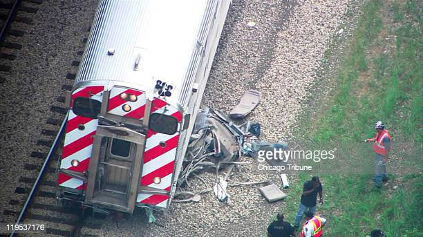 Two people were killed on Thursday July 21 2011 when an inbound Metra Rock Island train struck a car at a rail crossing near the Oak Forest station...
