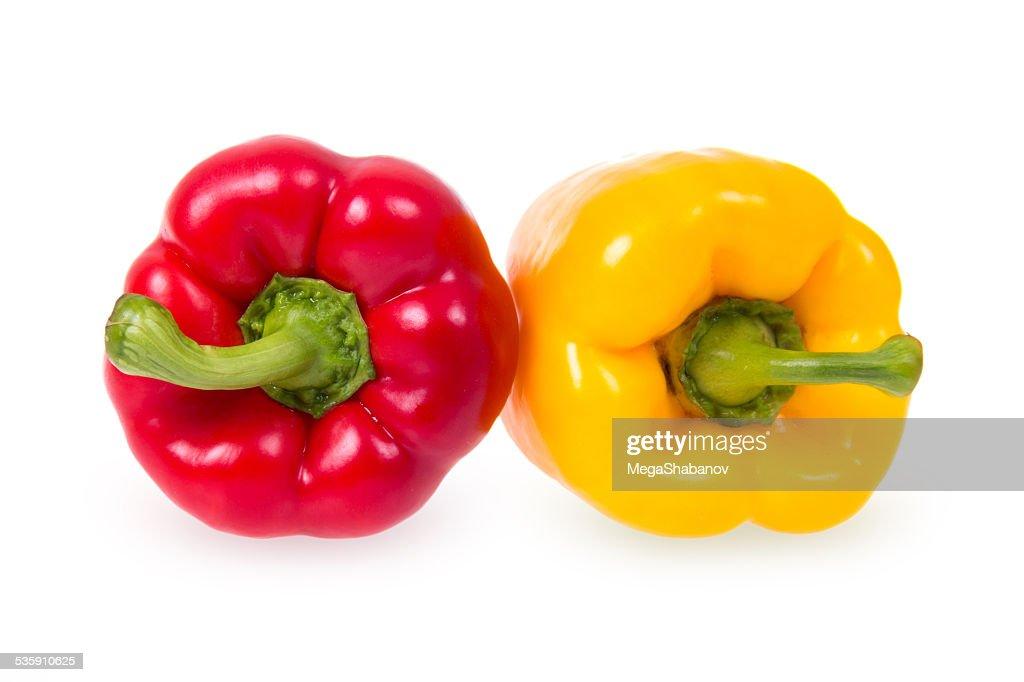 Dois peppers : Foto de stock