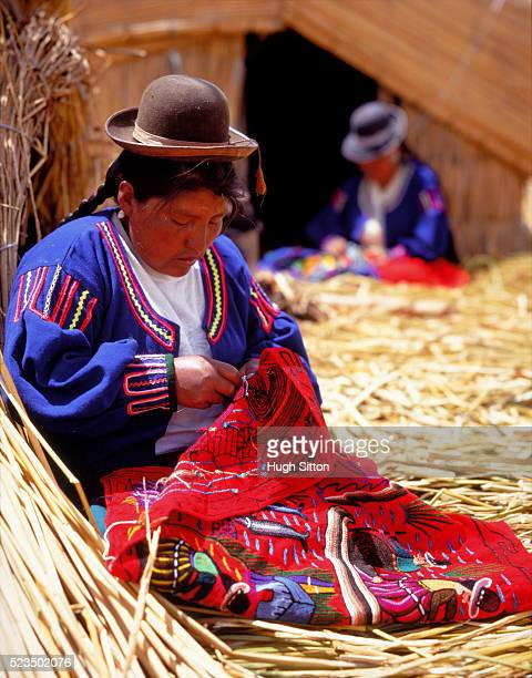 Two Peruvian Women sewing