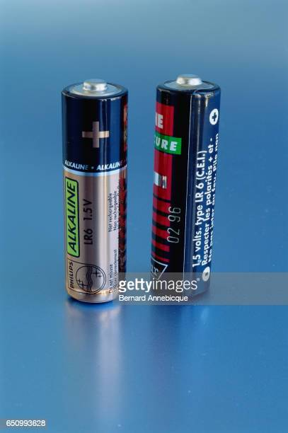 Two Philips AA alkaline batteries