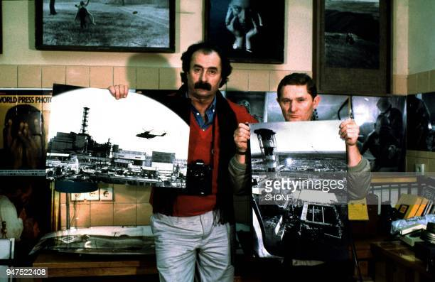 two photographers whom Igor Kostin on left who took the first pictures of the chernobyl disaster from a helicopter April 1986