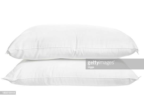 Two Pillows On White Background