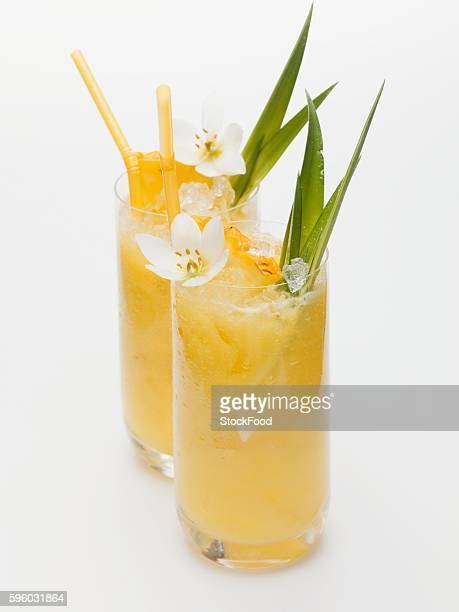 Two pineapple drinks