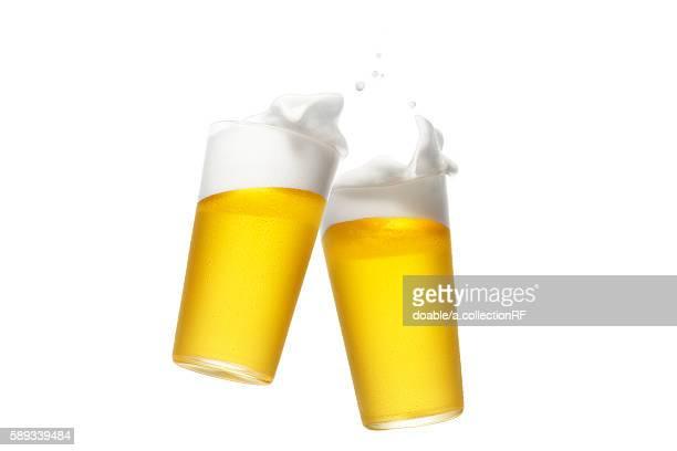 two pints of beer - ビアグラス ストックフォトと画像