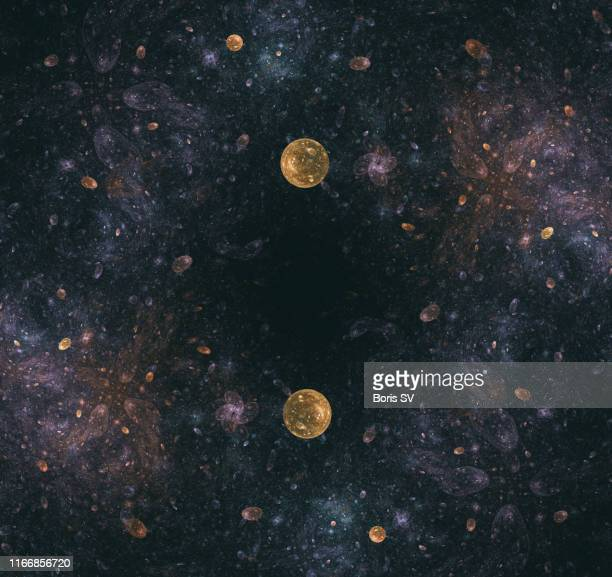 two planets - extrasolar planet stock pictures, royalty-free photos & images