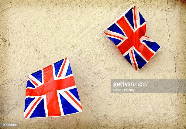 two plastic british flag - crausby stock pictures, royalty-free photos & images