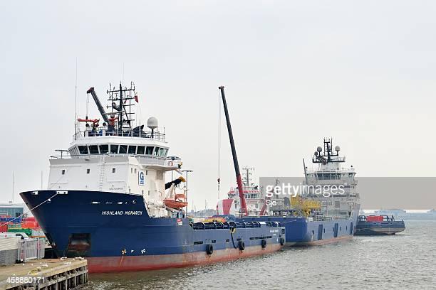 Two Platform supply ships