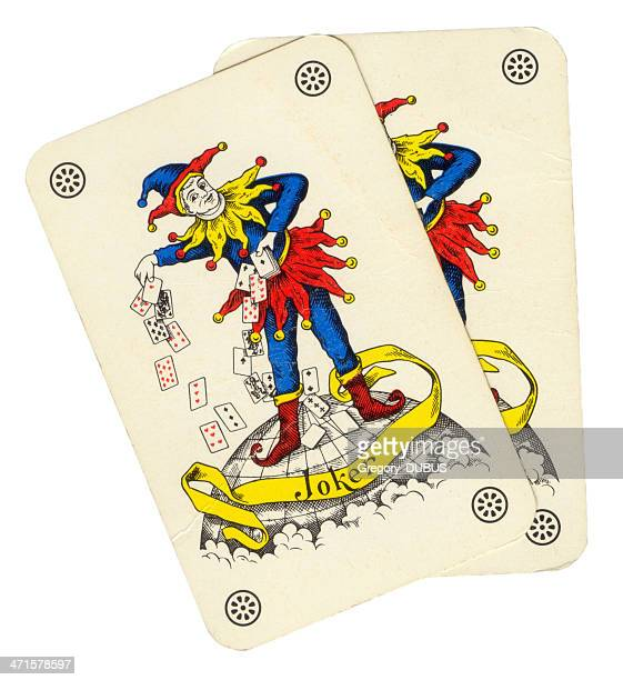 Two playing card joker jester style