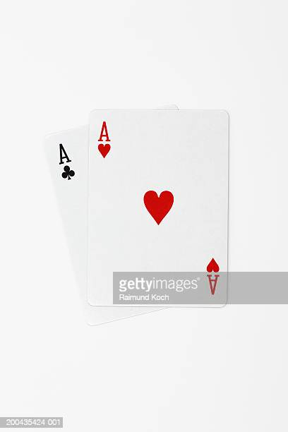 two playing cards - suit stock pictures, royalty-free photos & images