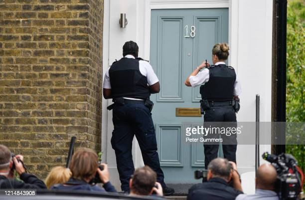 Two police officers arrive at the home of Dominic Cummings Chief Advisor to Prime Minister Boris Johnson on May 24 2020 in London England On March...