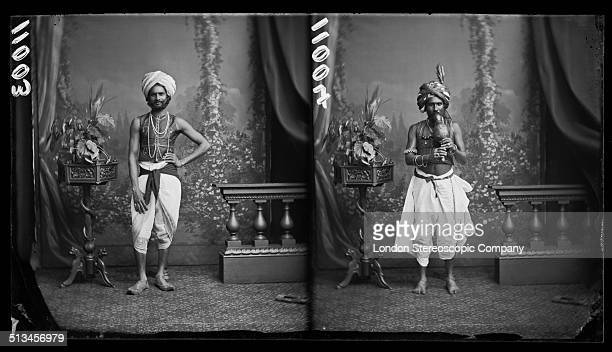 Two portraits of Indian conjurors and snake charmers 25th July 1877 The man on the left is presumed to be Moonshe Shaikh Gheesa