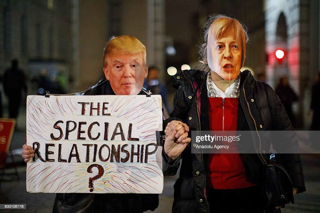 Protest against U.S. President Trump in London : News Photo