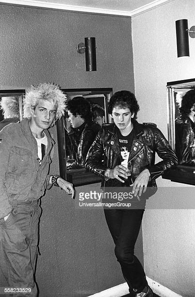 Two punks at an Adam The Ants gig UK 1980