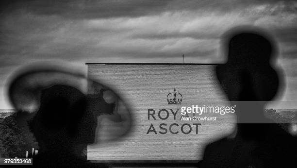 Racegoers react as they watch the racing on the second day of the Royal Ascot horse racing meet in Ascot west of London on June 20 2018 The fiveday...