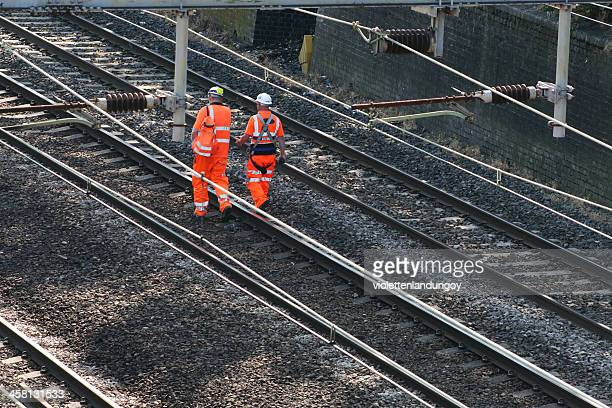 two railway workers - rail transportation stock pictures, royalty-free photos & images