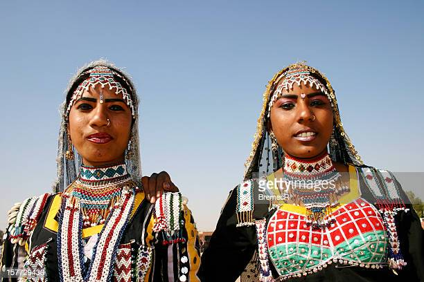 Two Rajasthani woman in traditional garment