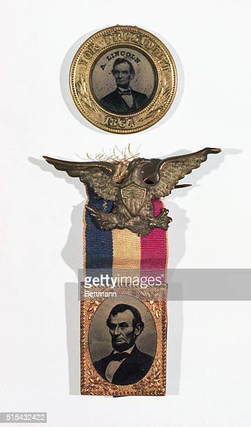 Two rare metal campaign badges from the Lincoln campaign of 1864