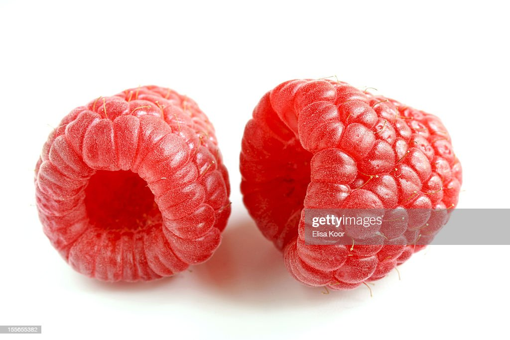 Two raspberries : Stock Photo