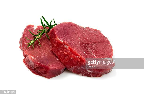 Two Raw Steaks