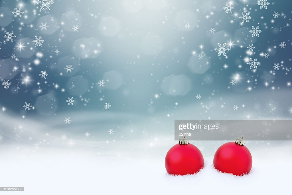 Two red ball : Foto de stock