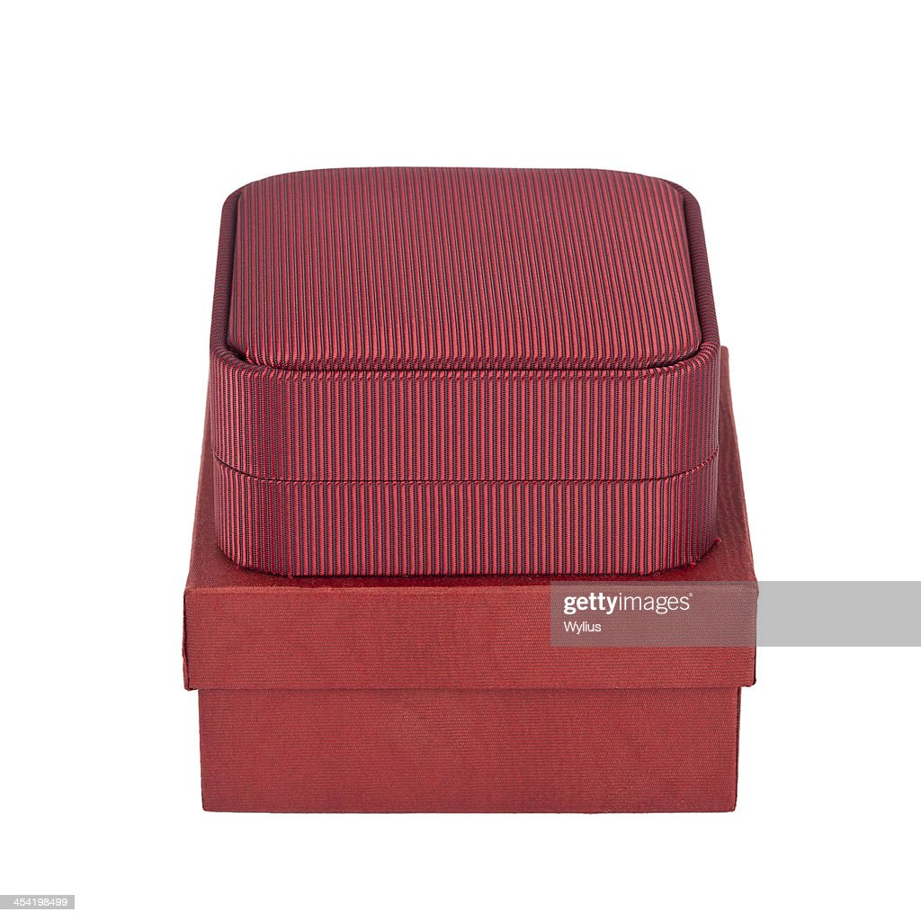 Two red boxes : Stock Photo