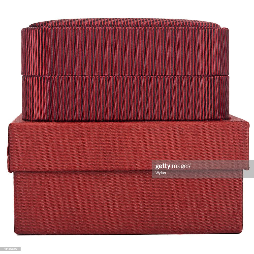 Duas Caixas-vermelho : Foto de stock