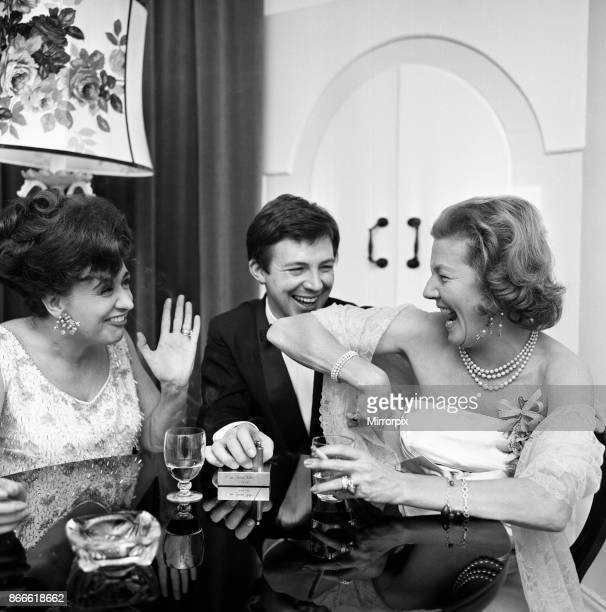 Two residents of 'Coronation Street' share a joke with royalty at a party in Huddersfield For the laughing companion of Elsie and Dennis Tanner is...