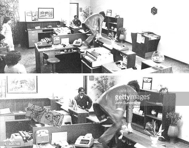 MAY 13 1978 Two Robbers Flee After Holding Up Bank A surveillance camera took this photograph of two men who escaped with an undisclosed amount of...