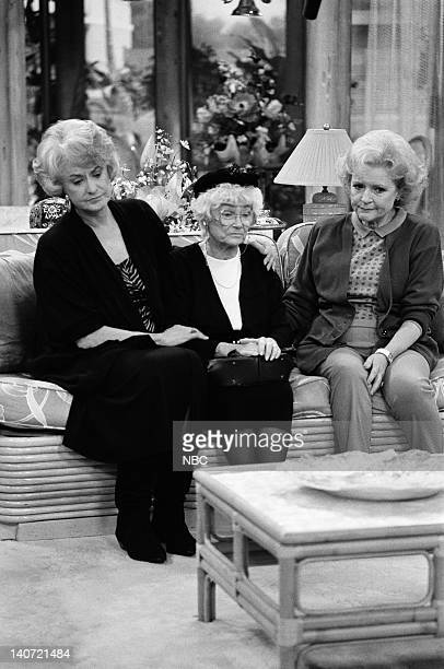 GIRLS Two Rode Together Episode 16 Pictured Bea Arthur as Dorothy Petrillo Zbornak Estelle Getty as Sophia Petrillo Betty White as Rose Nylund Photo...