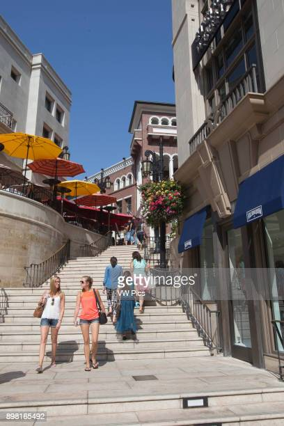 Two Rodeo Drive Shopping Area by Rodeo Drive Beverly Hills Los Angeles California USA