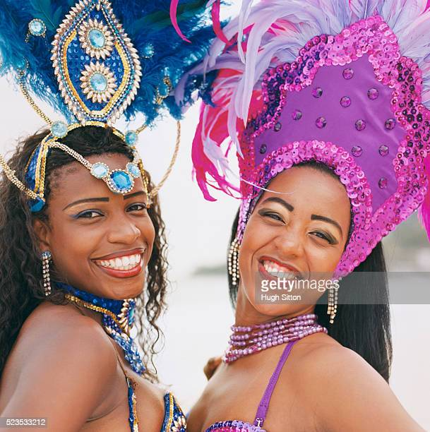 two samba dancers - hugh sitton stock pictures, royalty-free photos & images