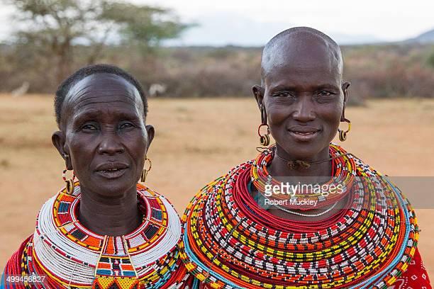 CONTENT] Two Samburu ladies of the Lomisi clan wearing wedding necklaces