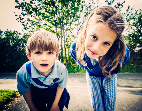 Two school children - gettyimageskorea