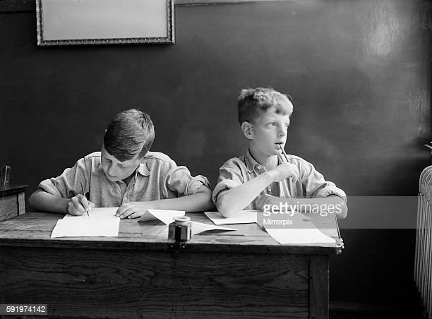 Two schoolboys during the Second World War. C1939.