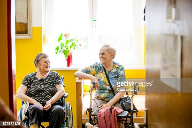 Two Senior Women Relaxing in Retirement Home
