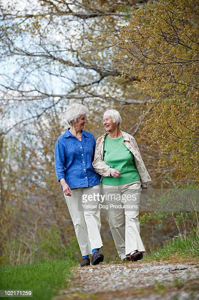 Two Senior Women taking a walk together