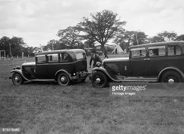 Two Singer Super Sixes at the Bugatti Owners Club gymkhana, 5 July 1931. Left: Singer Super Six 1920 cc. Vehicle Reg. No. HX2514. Right: Singer Super...