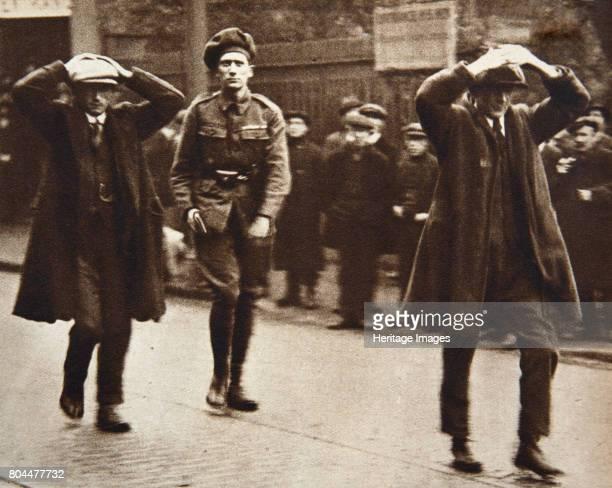 Two Sinn Fein members arrested by British troops Dublin Ireland 1920 A scene during the Irish War of Independence Two Sinn Fein members arrested...