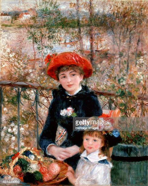 'Two Sisters ' 1881 Renoir Pierre Auguste Found in the collection of the Art Institute of Chicago