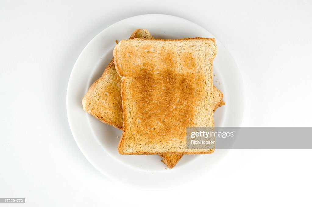 Two slices of toast : Stock Photo