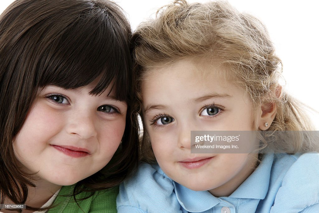 Two smiling girl : Stock Photo