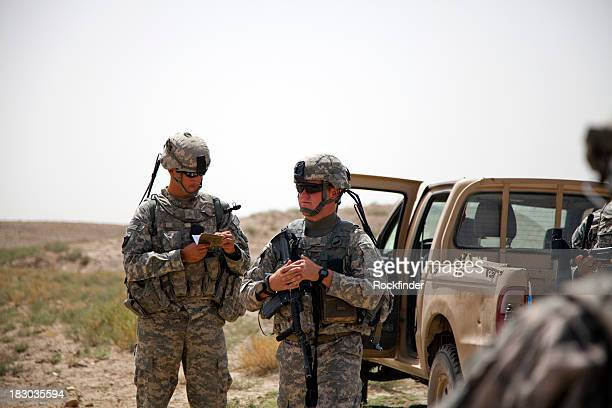 two soldiers - afghanistan war stock photos and pictures