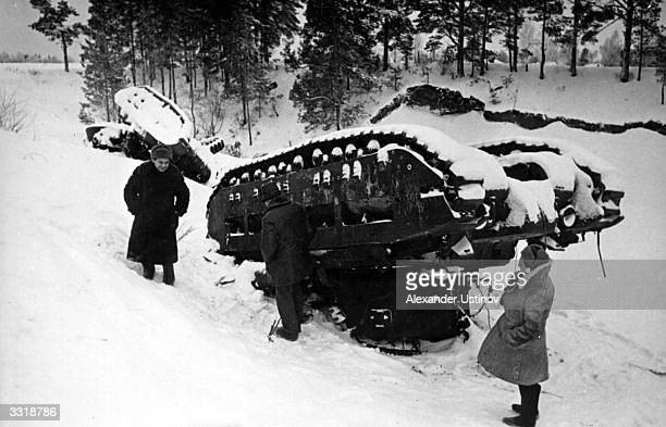 Two Soviet light tanks overturned on Leningrad Highway near Moscow Most of the infantry tanks produced before the Second World War were too...