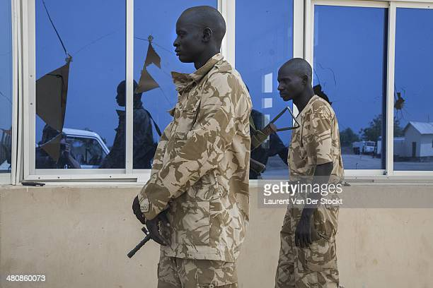 Two SPLA soldiers on the Bor airport Photograph by Laurent Van Der Stockt/Reportage By Getty Images