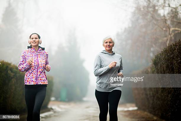 Two sporty women