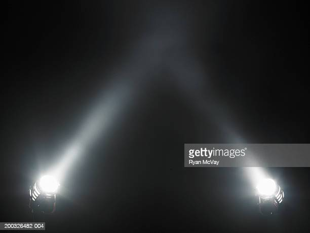 two spotlights - spotlight stock photos and pictures