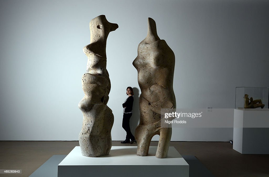 Henry Moore's Back To A Land Exhibition Opens At Yorkshire Sculpture Park : News Photo