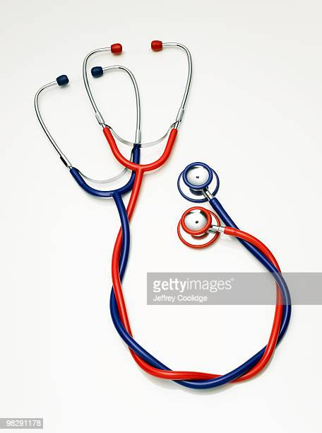 Two Stethoscopes Entwined